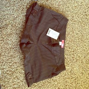 Lux Urban Outfitter brown pinstripe shorts size 5