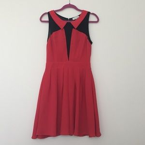 Red and Black Pleated Sugarlips Dress