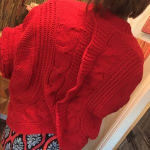Sweaters - Red oversized cardigan sweater