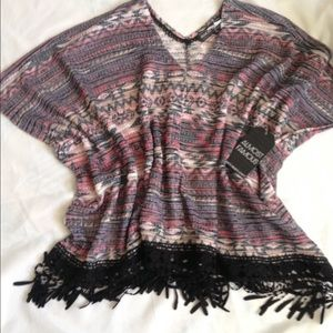Almost Famous Tops - Boho Tribal Print short tunic with Fringe!