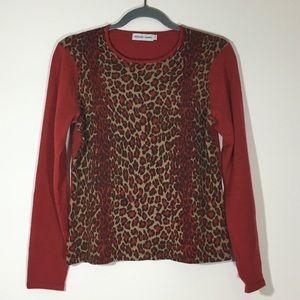 Gerard Darel Sweaters - French Designer Gerard Darel Red Leopard Sweater