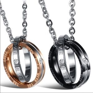 CLEARANCE!! His & Hers Couples Ring Necklaces