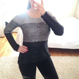 Belldini Tops - NEW Shimmery sparkling grey black top beautiful!