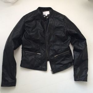 Target black faux leather jacket. Worn only once
