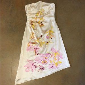 Strapless Orchid Silk Dress