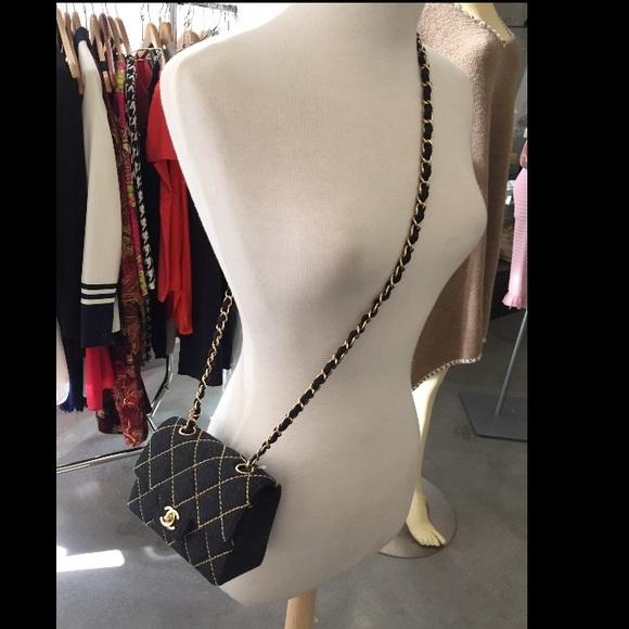 f87b2b0e51 SOLD on Tradesy! NWT CHANEL wool grey mini flap