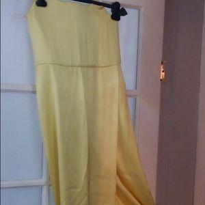 A yellow calvin Klein dress