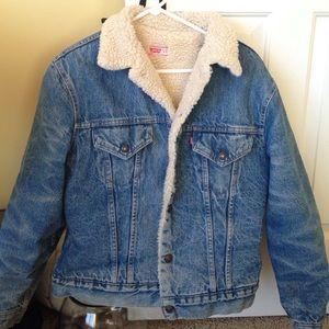 Brandy Melville Jackets Amp Coats Vintage Fur Lined Levis