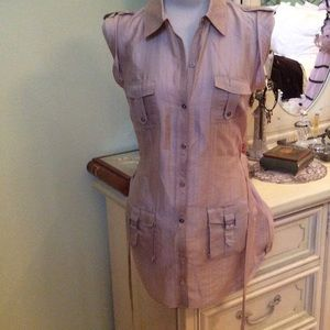 Guess beige blouse