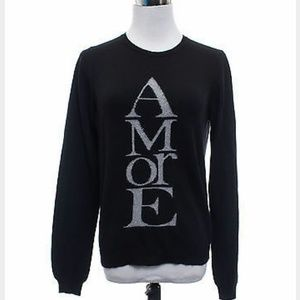 Zara Amore wool blend black crew neck sweater
