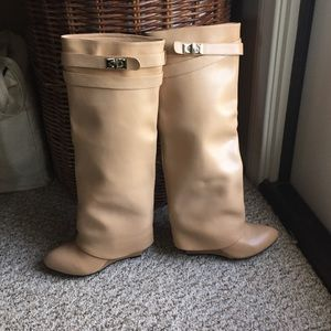 Shoes - Beige knee boots
