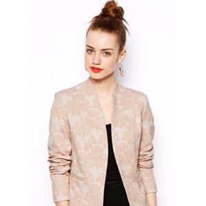 New Look Jackets & Blazers - New Look Floral Jacquard Blazer