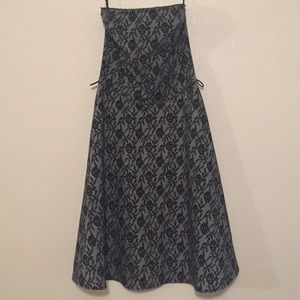 Charlotte Russe Black Flower Lace Pattern Dress