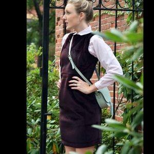 Bordeaux faux fur shift dress