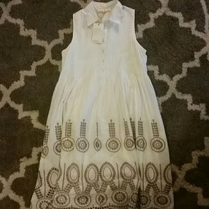 White collard dress