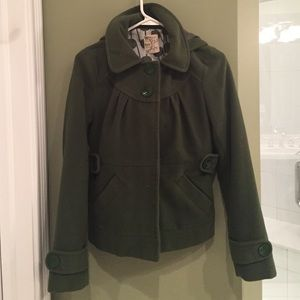 "Nordstrom's ""Tulle"" Green Peacoat Jacket."