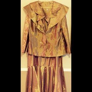 Gold Goddess Evening Dress