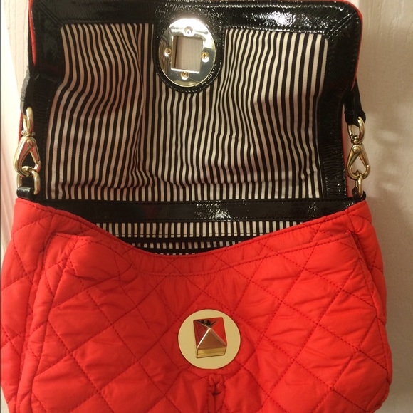 78% off kate spade Handbags - Kate Spade Red Quilted Nylon ... : kate spade red quilted bag - Adamdwight.com