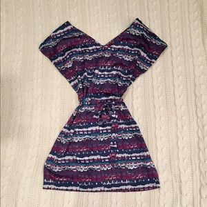 Silky multi color dress