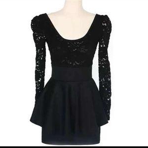 Dresses & Skirts - Lace peplum dress