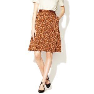 NWOT Silk Tucker Skirt