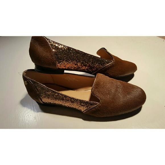 485378f0e IMAN Shoes - IMAN Bronze pony calf hair and Glitter Flats