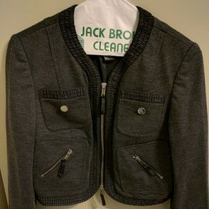 ETCETERA crop grey jacket