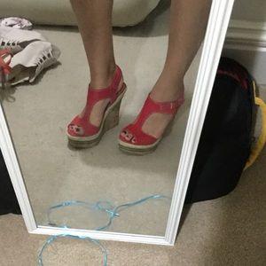 Fergie Shoes - Fergalicious red wedges sz6.5