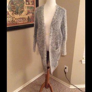 Tea n Cup Sweaters - 🎉🎉Tea & Cup OSFM Silver Faux Fur Pocket Coat-NWT