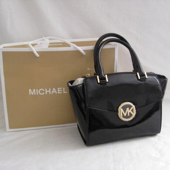 8f685f6bd853 Michael Kors Hudson Black Medium Satchel Bag. Listing Price: $180.00