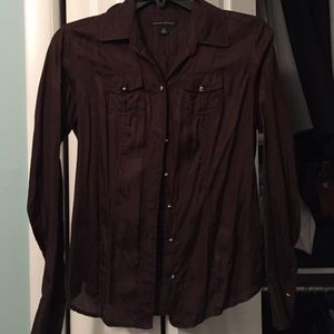 Banana Republic Silk blend Button down shirt