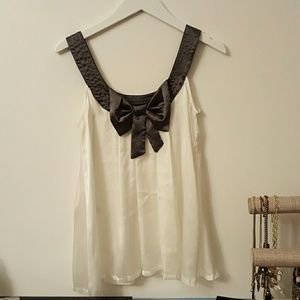 Silk Studded Bow Back Tanks