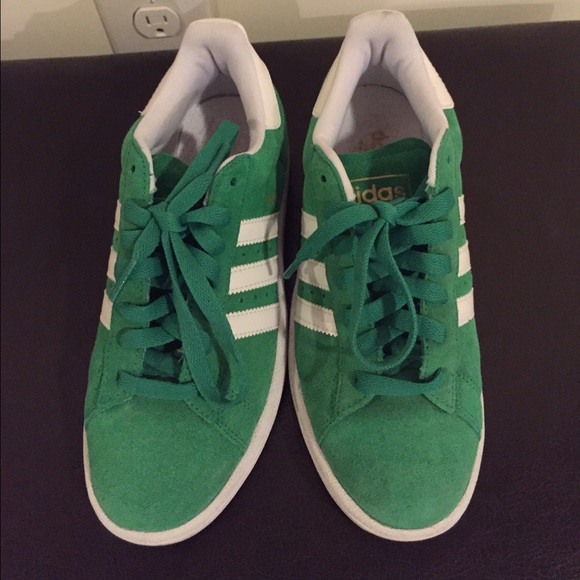 5fbdcbb8cf90 Adidas Shoes - Adidas green Campus sneakers women s size 7