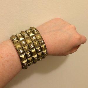 NEW Studded Cuff Bracelet with Gems