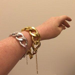 NWT Chunky Goldtone Chain Bracelet