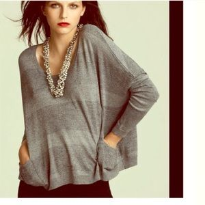 Theory Silver & Grey Shimmery Sweater