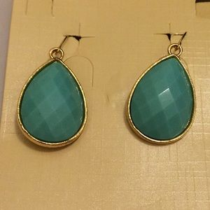 NWT Aqua Turquoise Teardrop Earrings Nickel Free