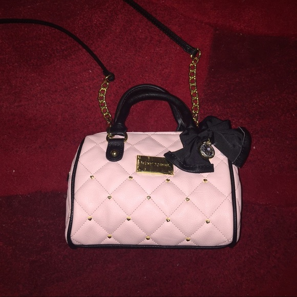 8f9a5ea065d Betsey Johnson Handbags - BETSEY JOHNSON CROSSBODY LIGHT PINK MINI BARREL