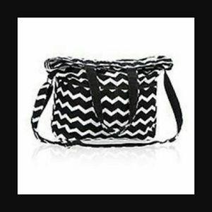 Thirty One Bags Thirtyone Retro Metro Fold Over Black
