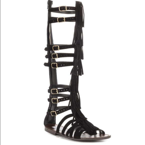 1dba83dda03 Steve Madden villano fringe tall gladiator sandals
