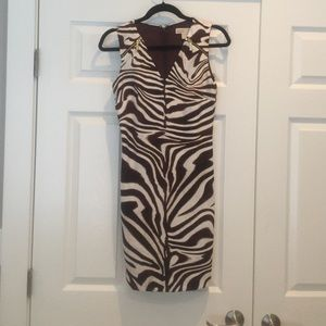 MICHAEL Michael Kors XS Animal Print Fitted Dress