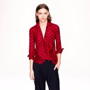 NEW J. Crew Boy Popover in Bow Print