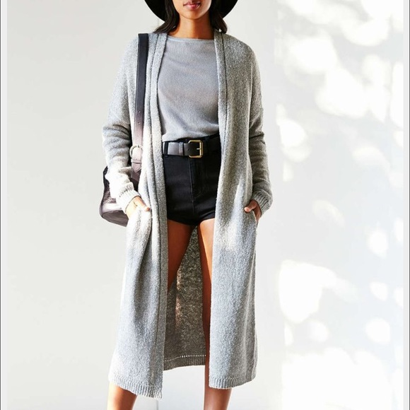 65% off Urban Outfitters Sweaters - Grey sweater long cardigan ...
