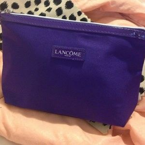 Lancome Handbags - Lancôme small PURPLE Jeweled Cosmetic Bag w/charms