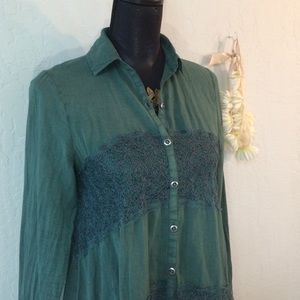 Green Free People top.