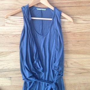 Zara Dresses & Skirts - Blue Wrap Front Knit Dress size XS
