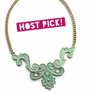 HOST PICK 1/25! Mint green statement necklace