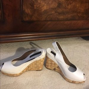 Brand New Steve Madden wedge shoes/White leather
