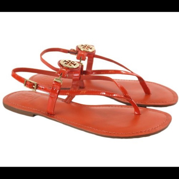 4957f32431329 Tory Burch Ali Thong Sandals Patent Calf. M 568973ccfeba1fdbca0843aa