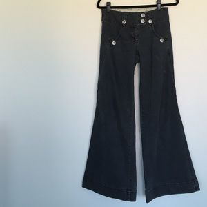 Anthro Wide Leg Jeans
